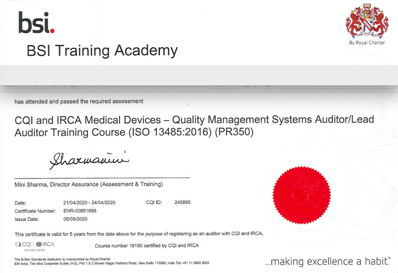 ISO 13485 Consultancy by IRCA Approved auditors