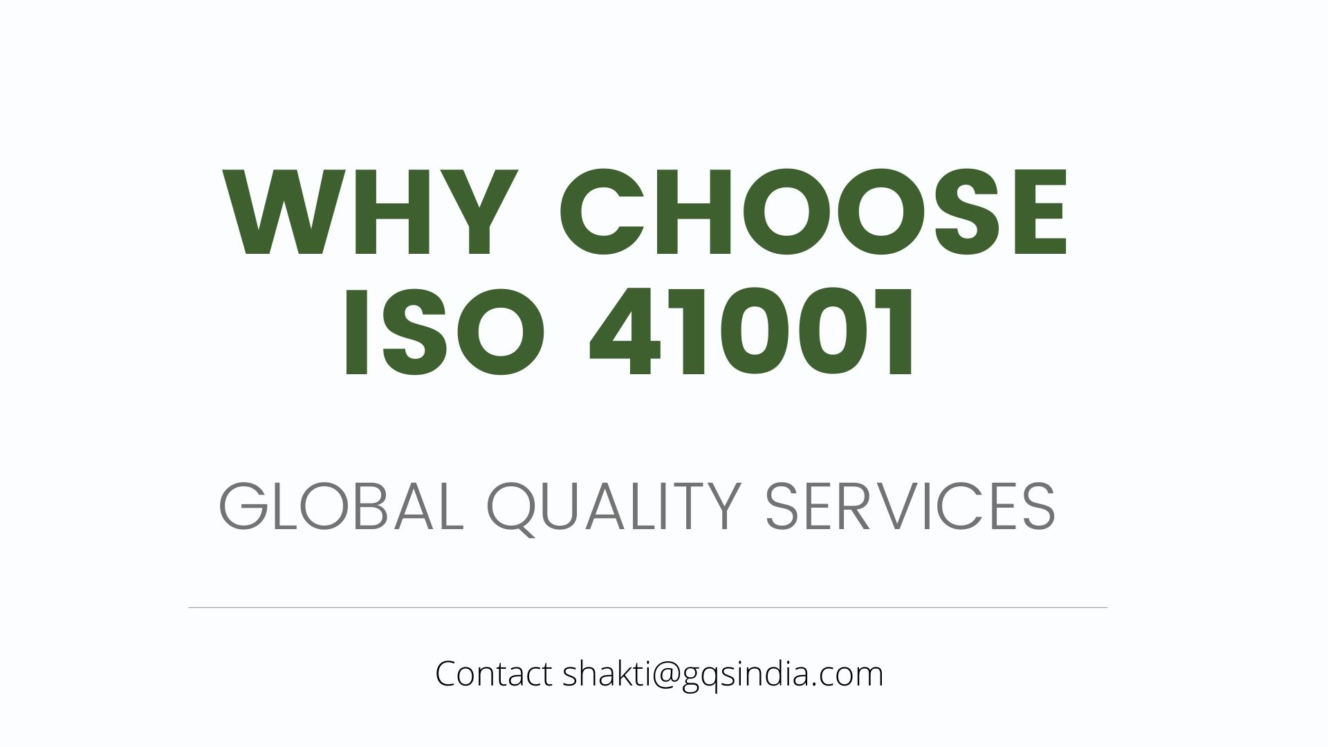 WHY CHOOSE ISO 41001 WITH GLOBAL QUALITY SERVICE