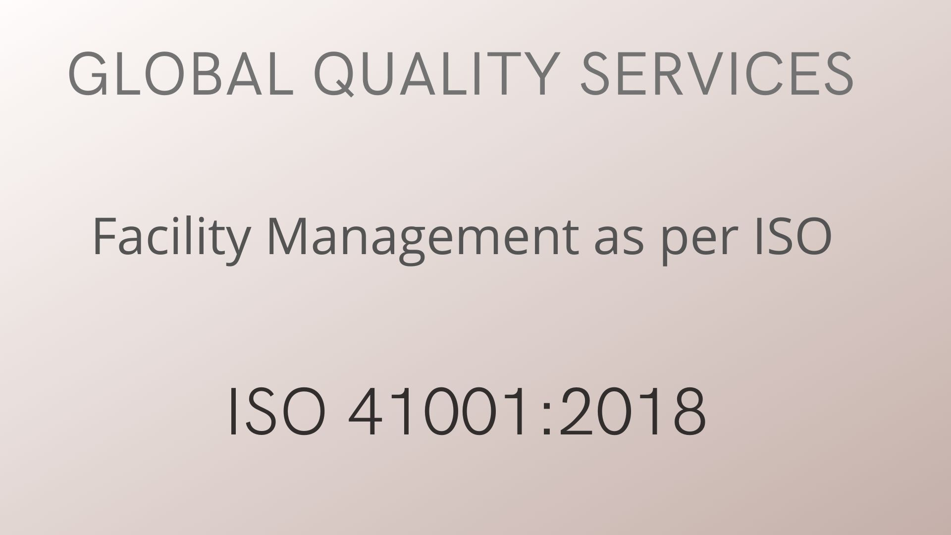 Requirements specified in ISO 41001:2018 –