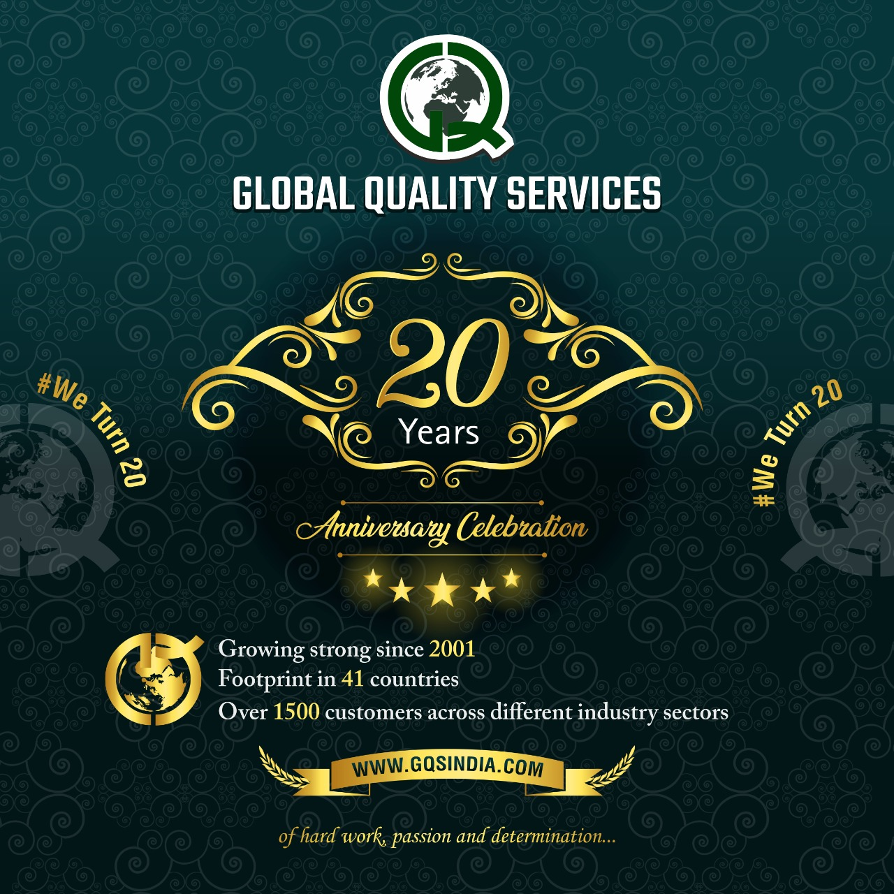 20th year anniversary celebration - Global Quality Services